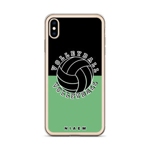 Volleyball iPhone Case (Black & Green 4)