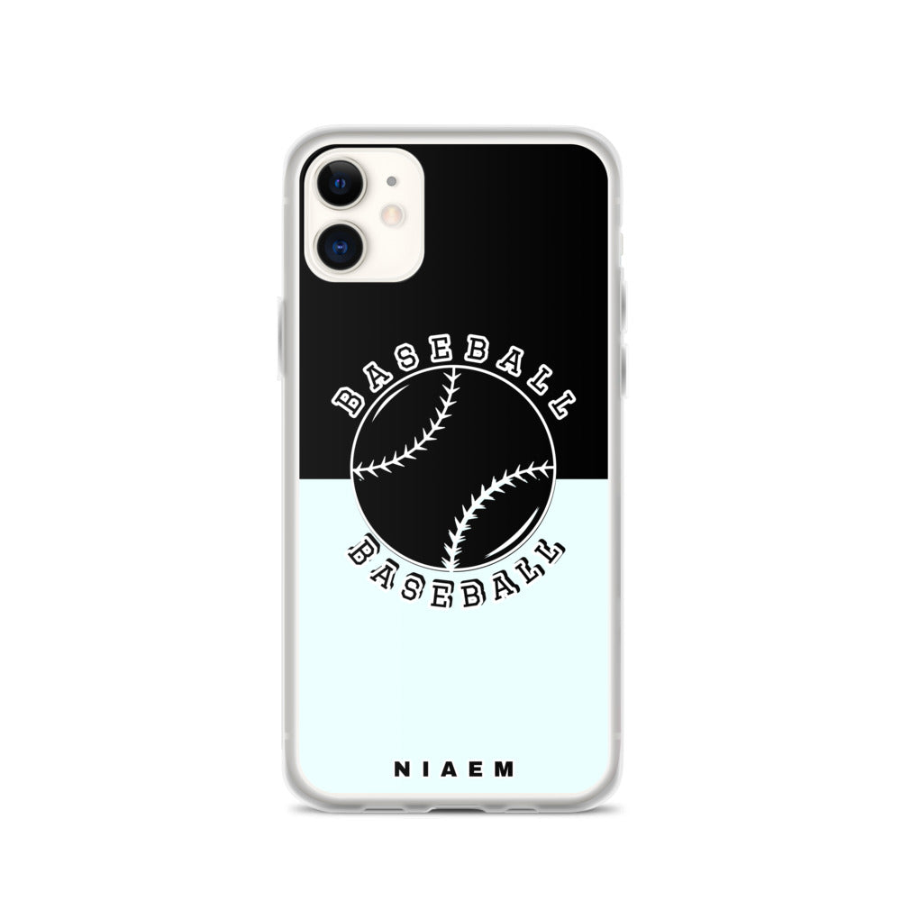 Baseball iPhone Case (Black & Blue 5)
