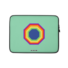 Load image into Gallery viewer, Pale Green Octagon MacBook Laptop Sleeve