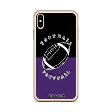 Load image into Gallery viewer, Football iPhone Case (Black & Purple)