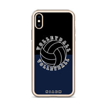 Load image into Gallery viewer, Volleyball iPhone Case (Black & Navy)