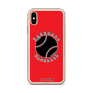 Baseball iPhone Case (Red)