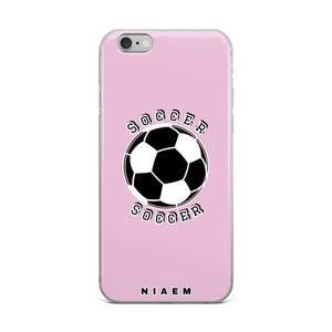 Soccer iPhone Case (Pink 4)