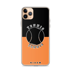 Tennis iPhone Case (Black & Orange 1)