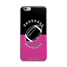 Load image into Gallery viewer, Football iPhone Case (Black & Pink 5)