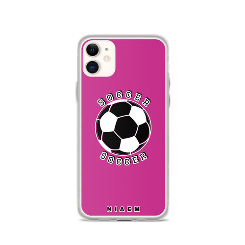 Soccer iPhone Case (Pink)