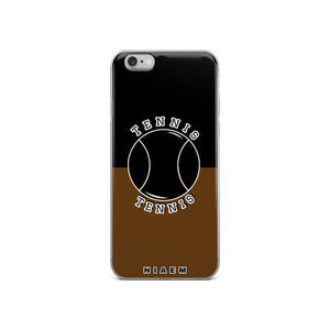 Tennis iPhone Case (Black & Brown)