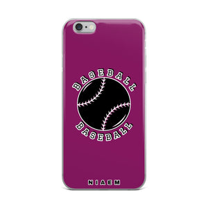 Baseball iPhone Case (Pink 6)