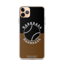 Load image into Gallery viewer, Baseball iPhone Case (Black & Brown)