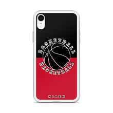 Load image into Gallery viewer, Basketball iPhone Case (Black & Red)