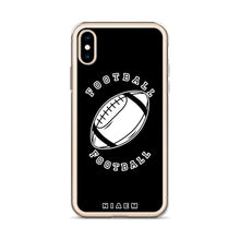 Load image into Gallery viewer, Football iPhone Case (Black)