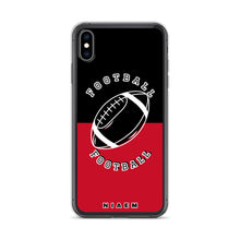 Load image into Gallery viewer, Football iPhone Case (Black & Red)