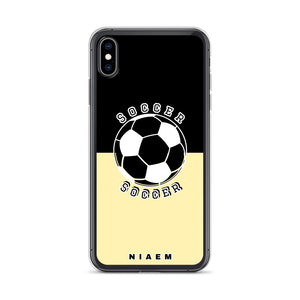 Soccer iPhone Case (Black & Yellow 2)