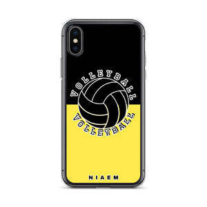 Volleyball iPhone Case (Black & Yellow 1)