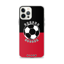 Load image into Gallery viewer, Soccer iPhone Case (Black & Red)