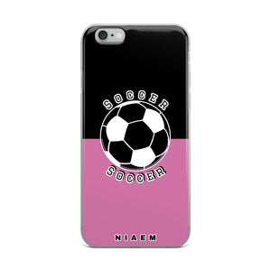 Soccer iPhone Case (Black & Pink 1)