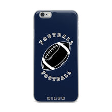 Load image into Gallery viewer, Football iPhone Case (Navy)