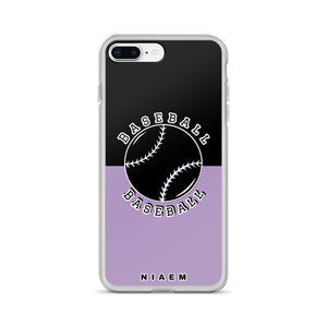 Baseball iPhone Case (Black & Purple 2)