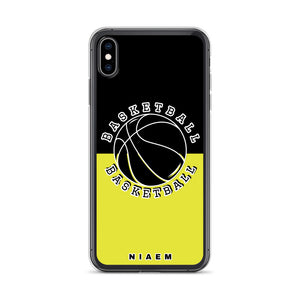 Basketball iPhone Case (Black & Yellow 3)
