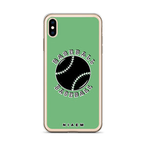 Baseball iPhone Case (Green 4)