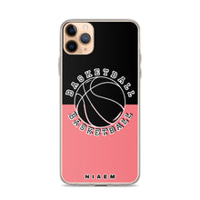 Load image into Gallery viewer, Basketball iPhone Case (Black & Pink 2)