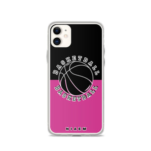 Basketball iPhone Case (Black & Pink 5)