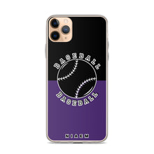 Load image into Gallery viewer, Baseball iPhone Case (Black & Purple)