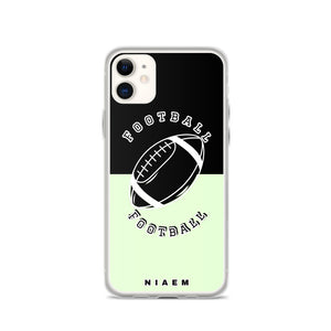 Football iPhone Case (Black & Green 2)
