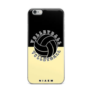 Volleyball iPhone Case (Black & Yellow 2)