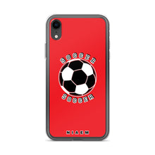 Load image into Gallery viewer, Soccer iPhone Case (Red 1)