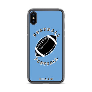 Football iPhone Case (Blue)