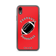 Load image into Gallery viewer, Football iPhone Case (Red)