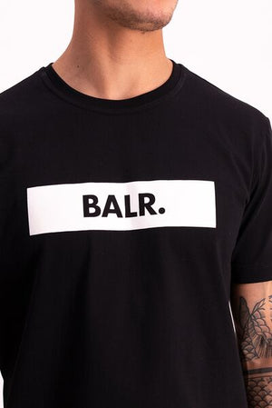 BALR. Straight T-Shirt Club Logo Jet Black
