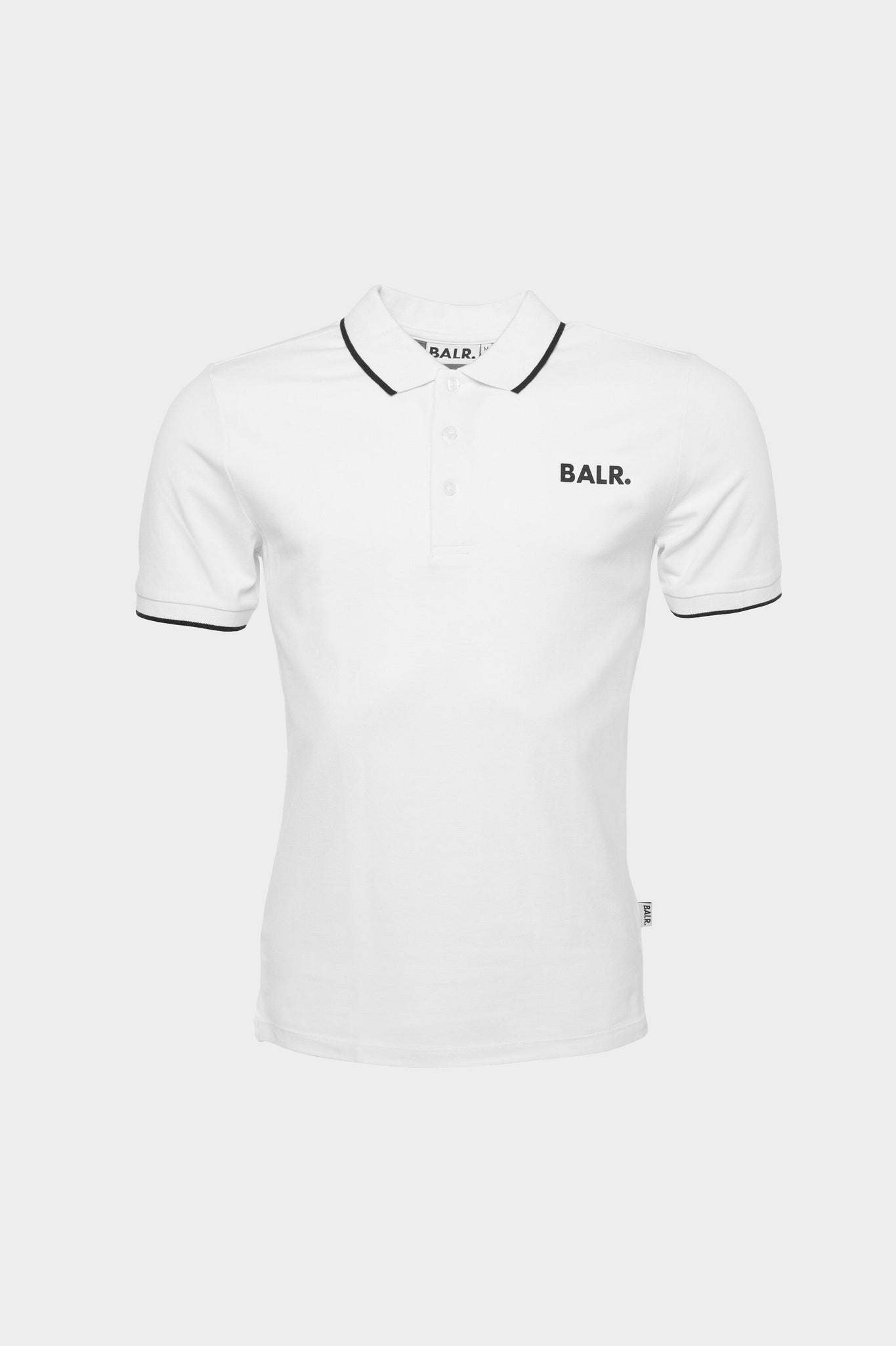 Brand Metal Logo Athletic Polo Men White
