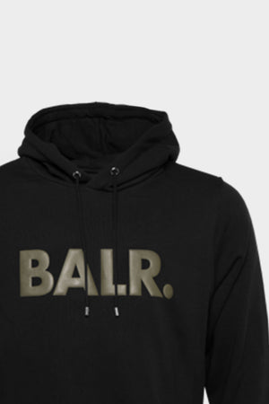 BALR. Straight Hoodie Men Black/Green