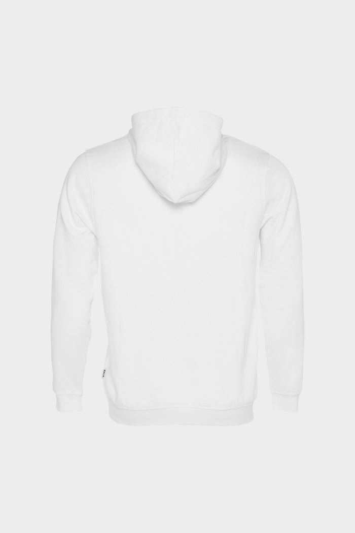 Brand Straight Hoodie Men White