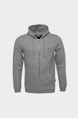 Q-Series Straight Zipped Hoodie Men Dk Grey Heather