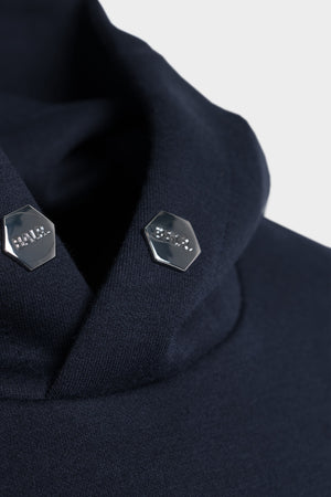 Q-Series Straight Classic Hoodie Men Navy Blue