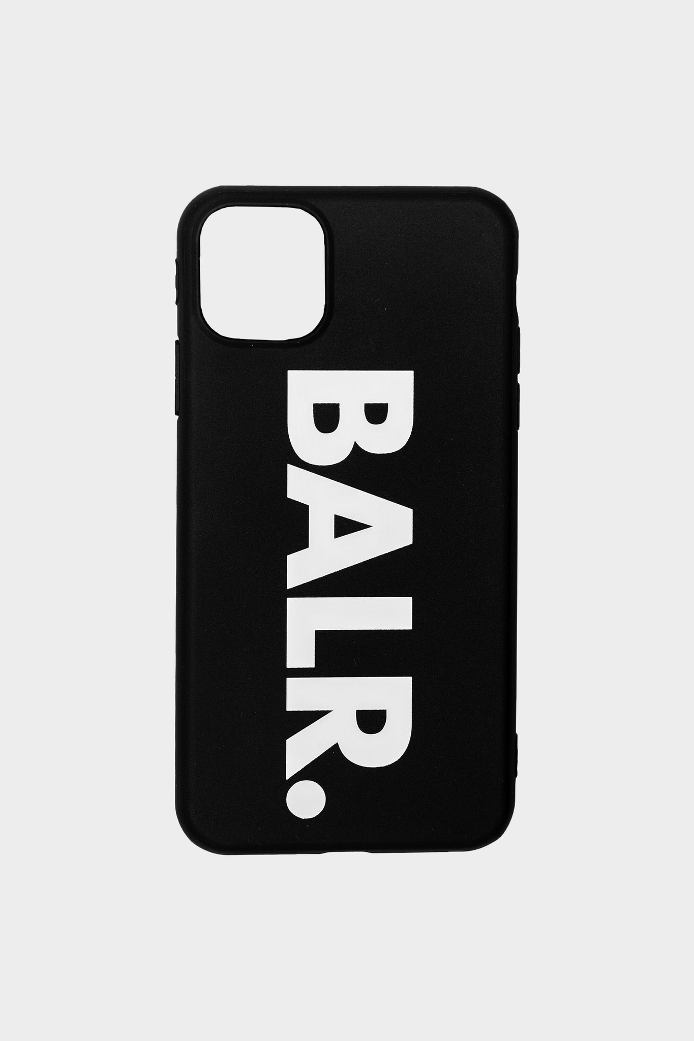 Brand Silicone iPhone Case Black