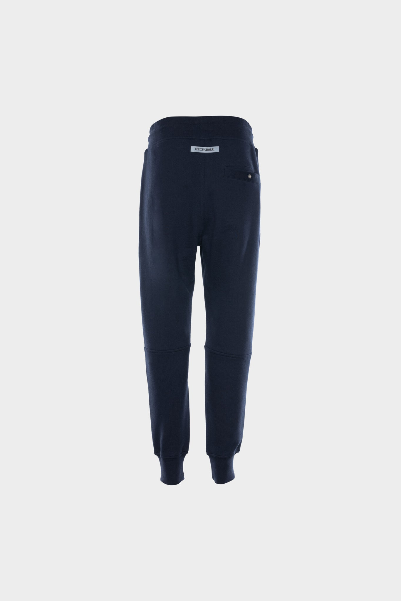 Contrasting Logo Straight Sweatpants Men Navy Blue