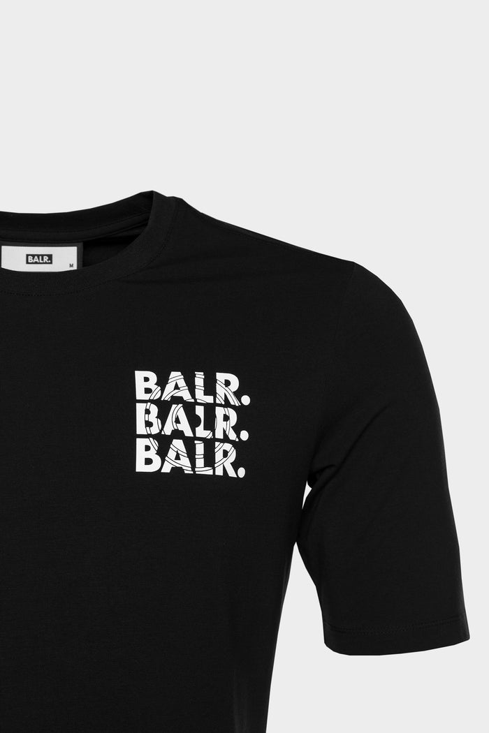BALR. Triple Athletic T-Shirt Men Black