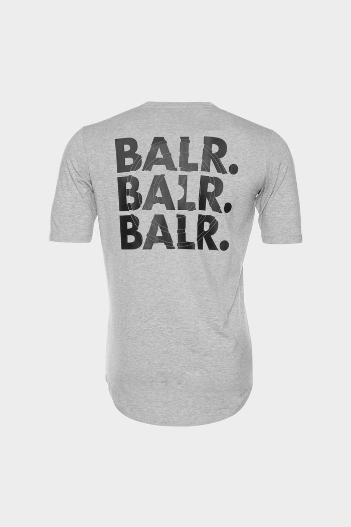 BALR. Triple Athletic T-Shirt Men Lt Grey Heather