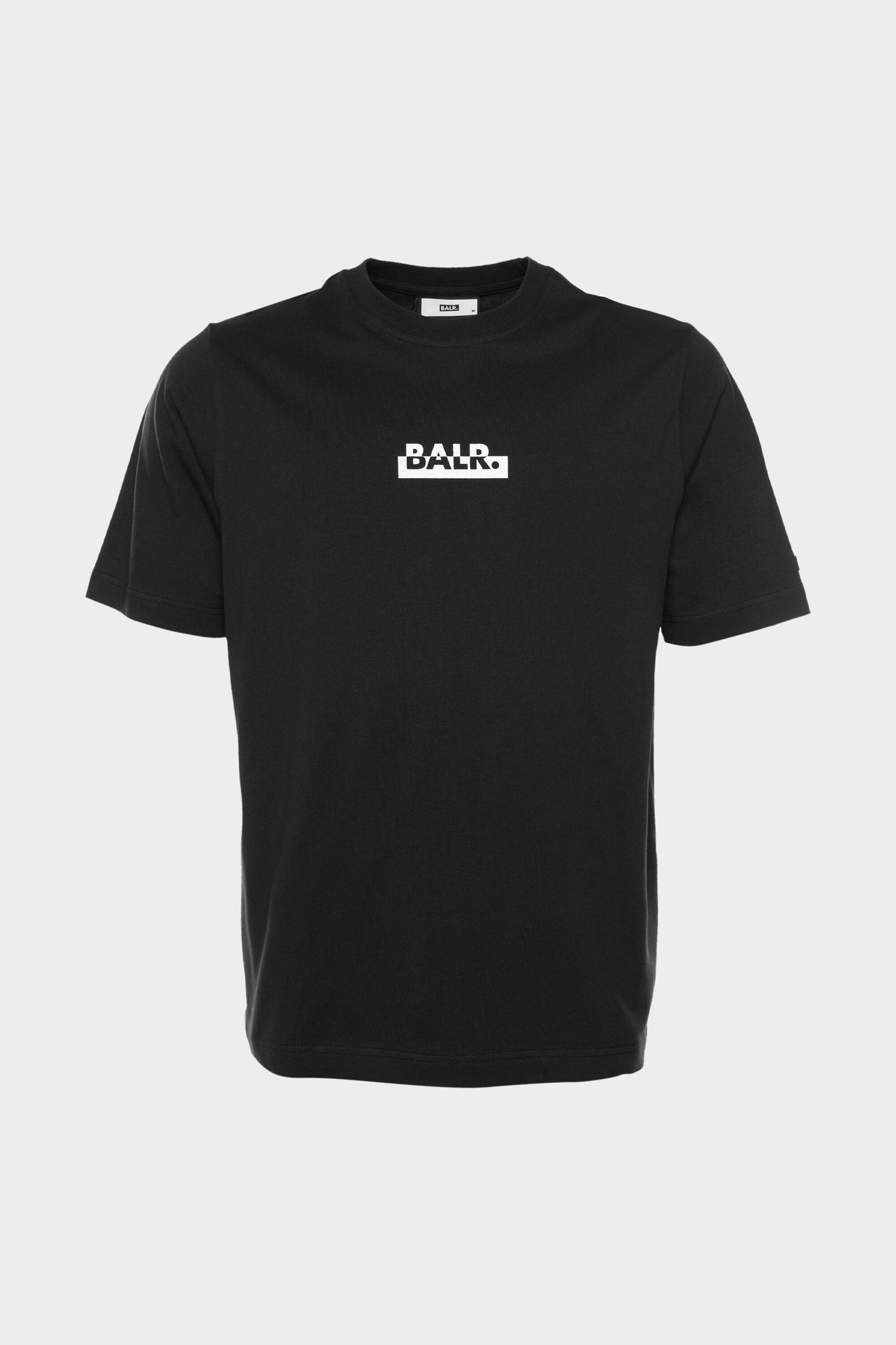 Contrasting Logo Loose T-Shirt Men Black