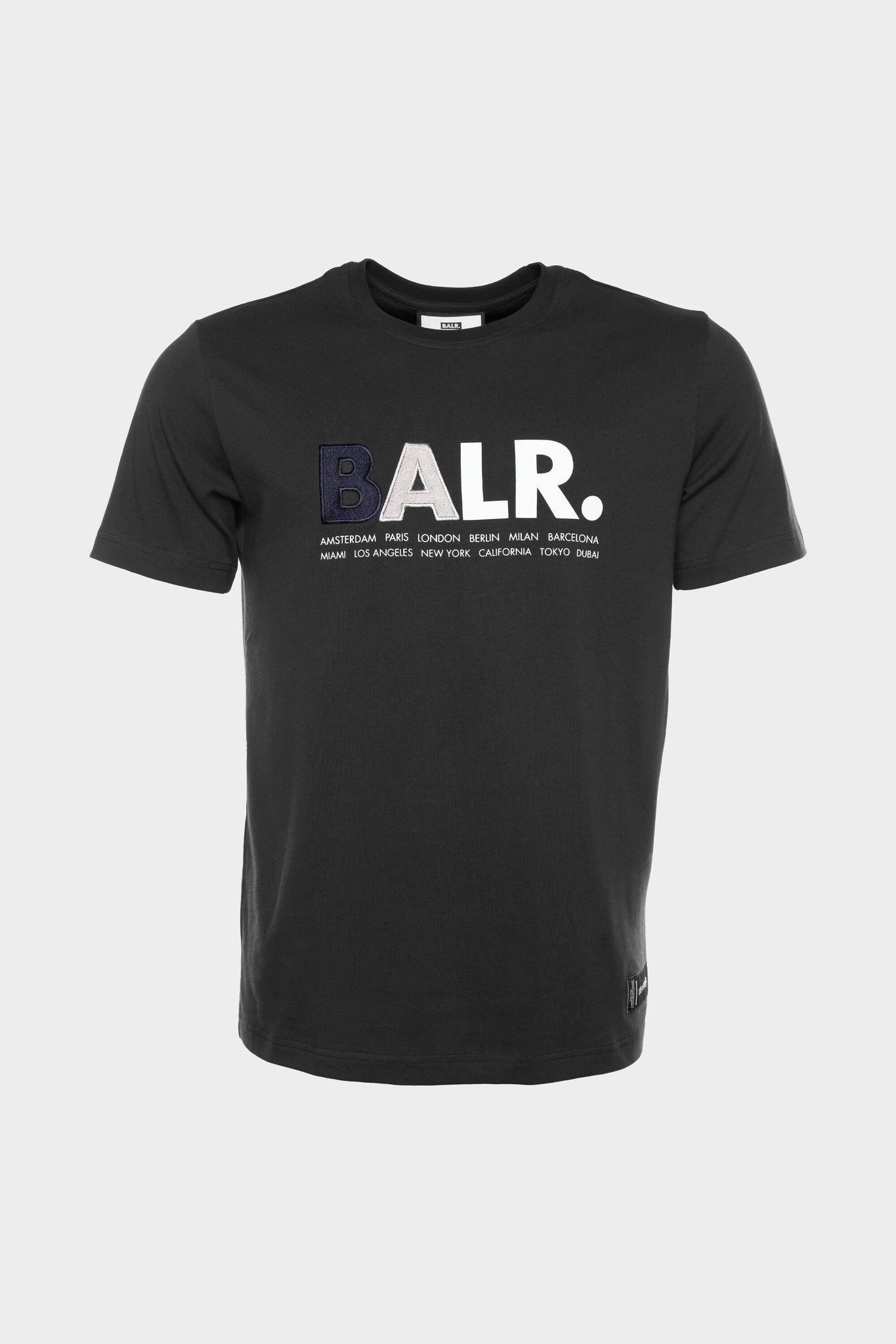 BALR. Multi Logo Straight T-Shirt Men Black