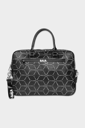 LOAB All-over Print Briefcase Black