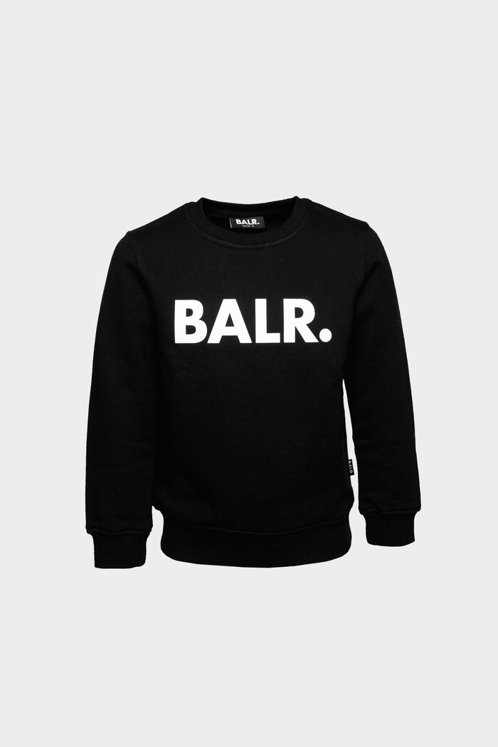 Brand Logo Crew Neck Kids Black