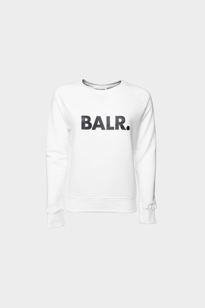 Brand Straight Crew Neck Women White