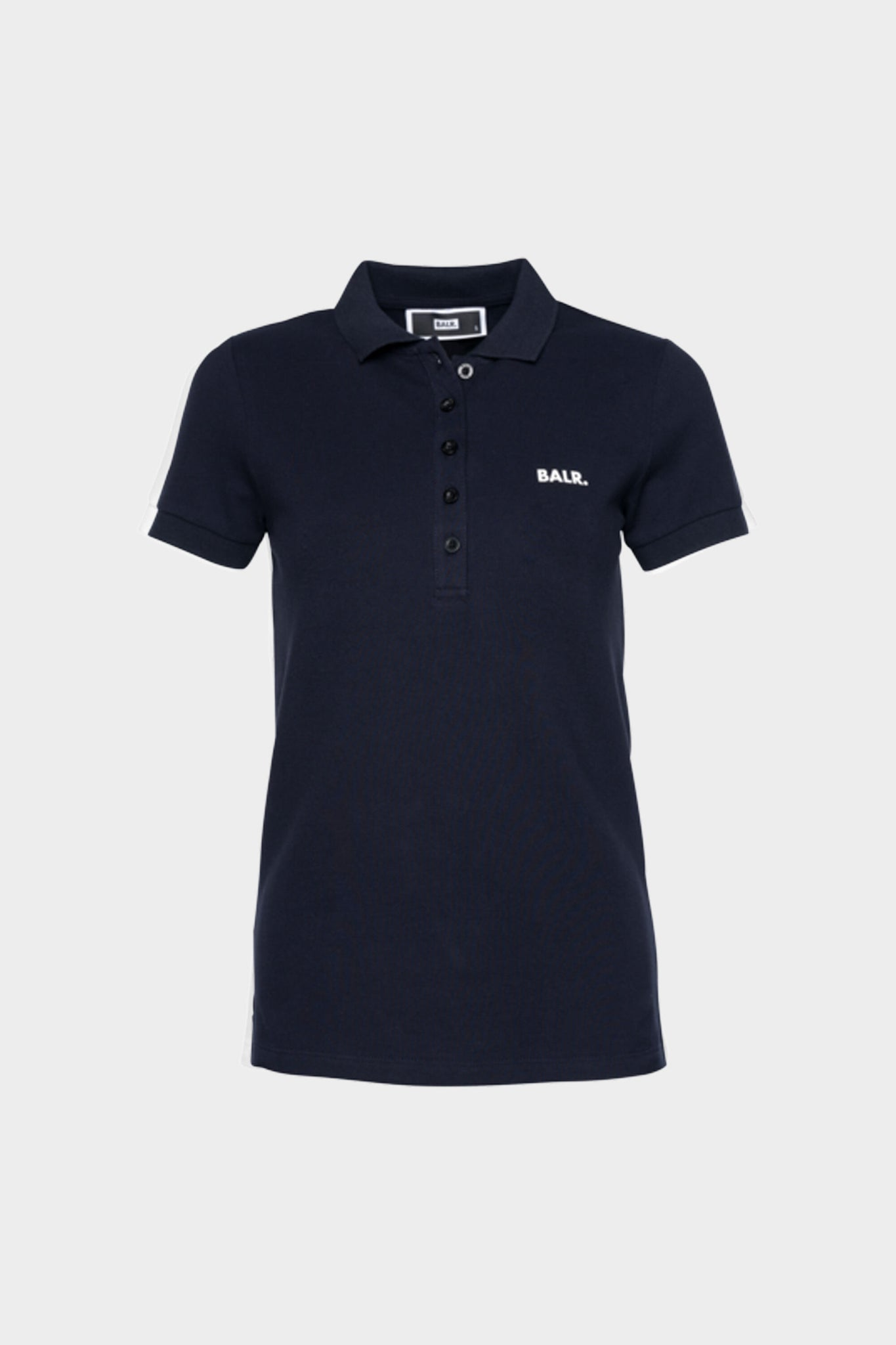 Brand Contrast Logo Polo Women Navy Blue
