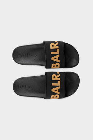 BALR. Slider Unisex Black/Gold