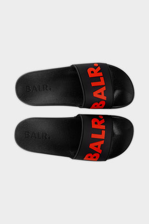 BALR. Slider Unisex Black/Red